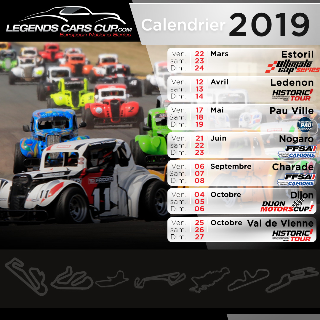 Calendrier 2019 Legends Cars Cup