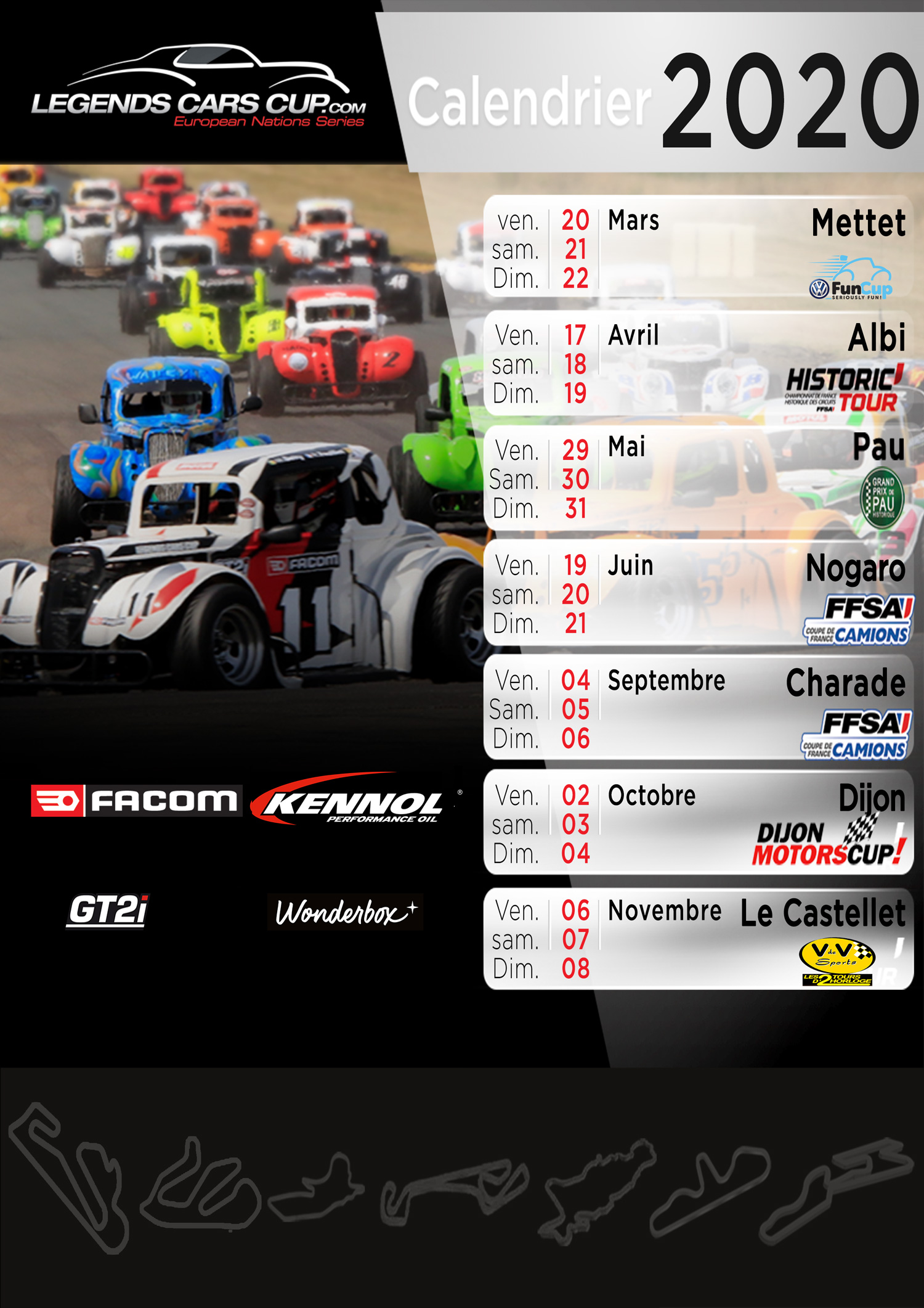 Calendrier 2020 Legends Cars Cup