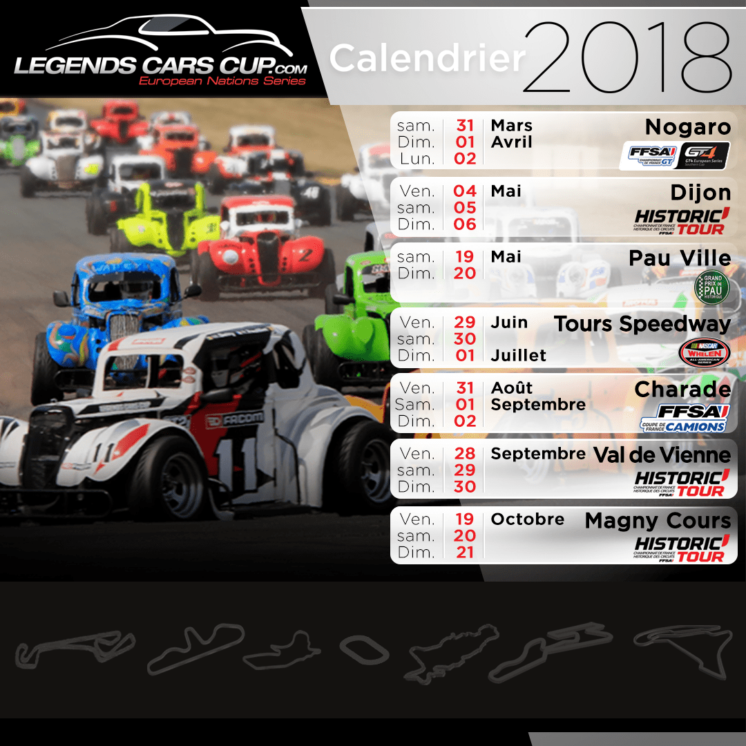 Calendrier 2018 Legends Cars Cup
